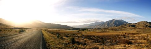 inNew Zealand de la escena del camino Imagen de archivo libre de regalías