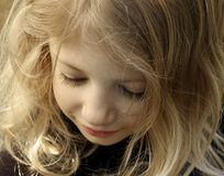 Innocence. Close-up of a cute little girl Royalty Free Stock Photography