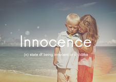 Innocence Naive Innocent Kids Childish Concept Stock Photos