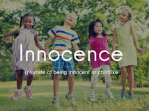 Innocence Naive Innocent Kids Childish Concept Royalty Free Stock Photo