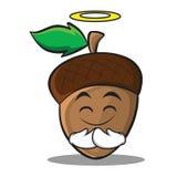 Innocent acorn cartoon character style Stock Photos