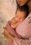 Innocent African baby sleeping stock photo