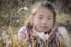 Innocent asian little girl Royalty Free Stock Photos