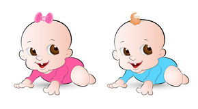Innocent Babies. Beautiful Lovely Design Art of Innocent Babies Vector Illustration Royalty Free Stock Images