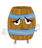 Innocent barrel cartoon Royalty Free Stock Photo