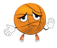 Innocent Basketball ball cartoon Royalty Free Stock Images