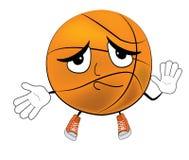 Innocent Basketball ball cartoon Royalty Free Stock Images