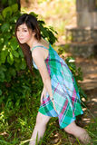 Innocent beautiful asian girl outdoors Royalty Free Stock Photo