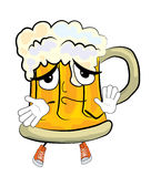 Innocent Beer cartoon Royalty Free Stock Photo