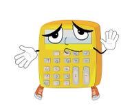 Innocent calculator cartoon Royalty Free Stock Photography