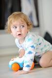 Innocent child playing Stock Image