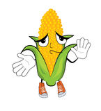 Innocent corn cartoon Stock Photo