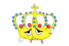 Innocent crown cartoon Stock Photo
