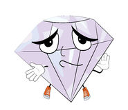 Innocent diamond cartoon Royalty Free Stock Photography