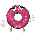 Innocent doughnut cartoon Royalty Free Stock Images