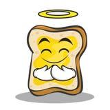 Innocent face bread character cartoon Royalty Free Stock Image