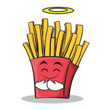 Innocent face french fries cartoon character Stock Photo