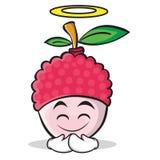 Innocent face lychee cartoon character style Stock Photos