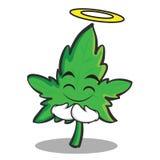 Innocent face marijuana character cartoon Royalty Free Stock Photo