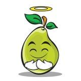 Innocent face pear character cartoon Stock Image