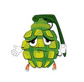 Innocent grenade cartoon Royalty Free Stock Images