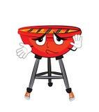 Innocent grill cartoon Stock Photo