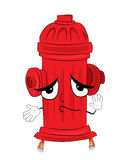 Innocent hydrant cartoon Royalty Free Stock Image