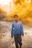 Innocent  indian child. Innocent Smile of indian child in playground Royalty Free Stock Photography