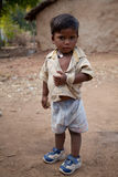 Innocent  indian child. In playground in sunlight noon Royalty Free Stock Photos