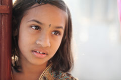 Innocent Indian little girl Stock Photos