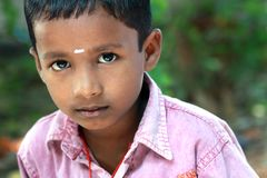 Innocent Indian Village boy Stock Photo