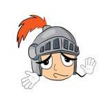 Innocent knight head cartoon Royalty Free Stock Photo
