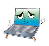 Innocent laptop cartoon Royalty Free Stock Photo