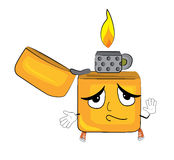 Innocent lighter cartoon Royalty Free Stock Photos