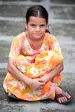 Innocent looks. Of sweet indian village girl stock image