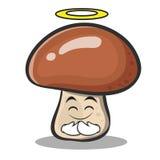Innocent mushroom character cartoon Stock Photography