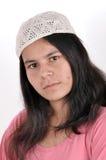 Innocent muslim girl. Innocent Indian Muslim girl on white stock photos