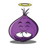 Innocent onion character cartoon Stock Photos