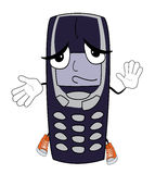 Innocent phone cartoon Stock Photography