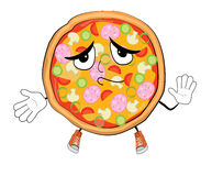 Innocent pizza cartoon Stock Photo
