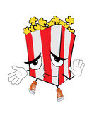 Innocent Pop corn cartoon Stock Photography