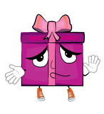 Innocent present box cartoon Stock Image