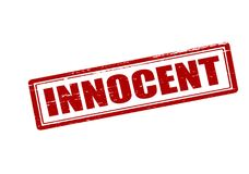 Innocent. Rubber stamp with word innocent inside,  illustration Royalty Free Stock Images