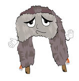 Innocent russian fur hat cartoon Royalty Free Stock Photography