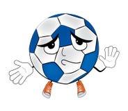 Innocent soccer ball cartoon Stock Photos