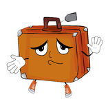 Innocent suitcase cartoon Stock Photography