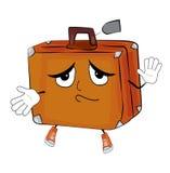 Innocent suitcase cartoon Stock Photography