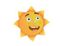 Innocent sun face Stock Photography