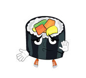 Innocent sushi cartoon Stock Photos