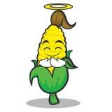 Innocent sweet corn character cartoon Royalty Free Stock Image